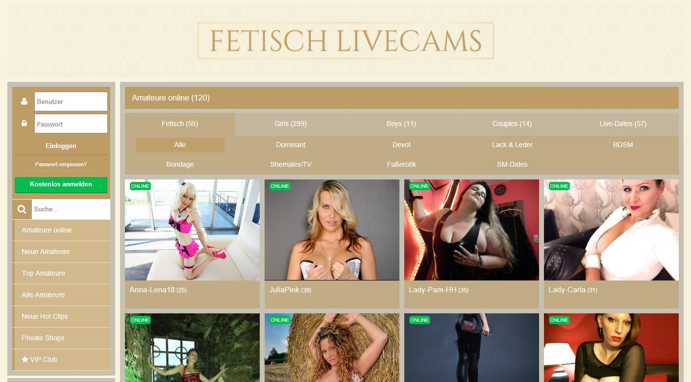 fetisch livecam chats